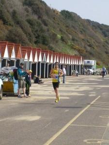 Manol Dimitrov finishes the Half Marathon