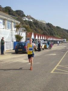 Billy McGreevy finishes the Half Marathon