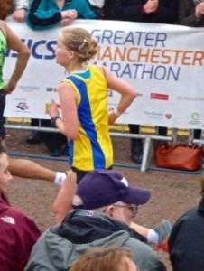 Gemma Bragg in action in the Greater Manchester Marathon