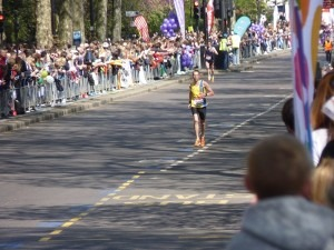Steve Way on his way to a PB in the London Marathon 2014