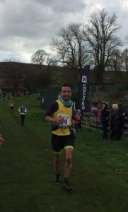 Damian Boyle competes in the Yorkshire Three Peaks fell race