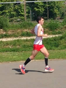 Jon Sharkey on his way to 6th position in his debut 100k race