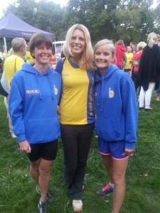 BAC's winning Ladies' team Purbeck 10k, Nikki Sandell (4th Lady overall), Emma Dews (1st ) and Gemma Bragg (2nd)