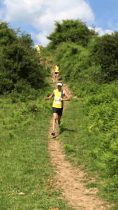 Toby Chapman on his way to 2nd place in the Cheddar Gorge Half Marathon