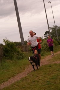 John Boyes and Robbie compete in the Bournemouth Parkrun followed by Mike Cowham