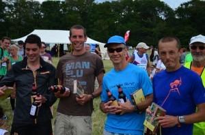 NF 10 winning team Chris O'Brien, Steve Way (course record holder), Simon Way and Jacek Cieluszecki