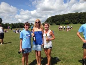 BAC's winning Ladies' team at Stur Half - Nikki Sandell, Emma Dews and Caroline Rowley