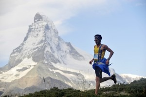 Manol Dimitrov races  in spectacular scenery in Switzerland