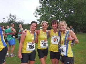 BAC's victorious Gold Hill Ladies' Team - Cherry Sheffrin, Caroline Rowley, Nikki Sandell and Gemma Bragg