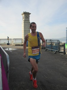 Steve Way leads the Half Marathon - for the moment!
