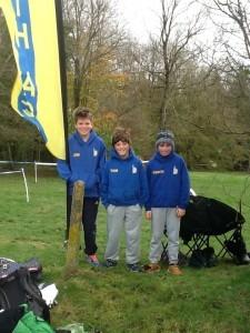 U13 Boys team - Jim Dence, Tom Farwell and Conor Charlwood