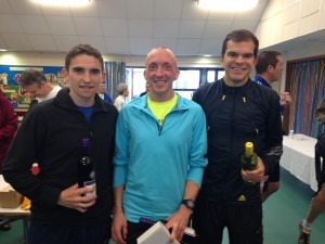 BAC mens' team with their Gilly Hilly winnings