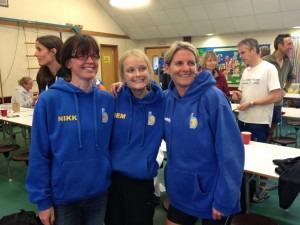 BAC's winning DRRL ladies' team at Gilly Hilly - Nikki Sandell, Gemma Bragg and Caroline Rowley