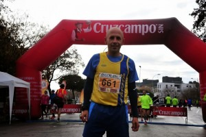 Antonio Ruiz is happy with his run in the Daimiel 10k