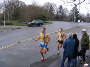 Jez Bragg and Simon Munro heading for 5th (Simon) and 6th (Jez) positions at Broadstone