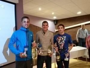 BAC's Jez Bragg, Jon Sharkey and Simon Munro - winning team at Broadstone