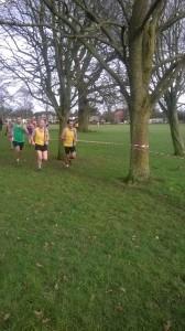 Mike Cowham and Steve Cox with another lap to go