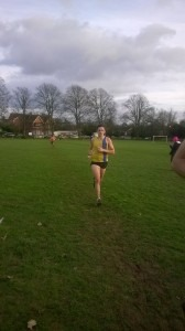 Simon Munro about to finish the Prospect Park cross country course