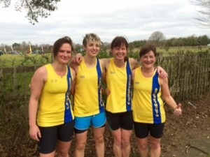 BAC's Ladies Team at Kings Park - Cherry Sheffrin, Heidi Tregenza, Nikki Sandell and Louise Price