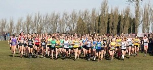 Senior Women mass start at the Inter Counties XC - recognise anyone?