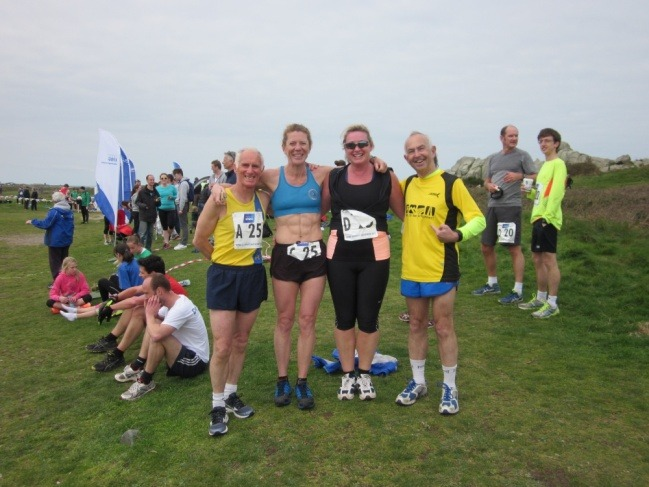 Team 'Scott Free' after Left to right Ian Graham, Angela Jones, Dawn Lee and Dave Parsons