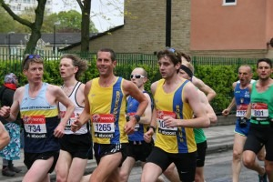 Steve Way and Toby Chapman running together............