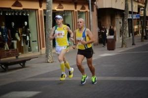 Antonio Ruiz runs in a 'carrera urbana' in Ciudad Real
