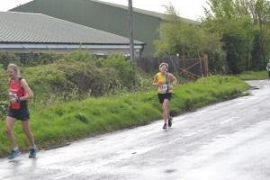 Caroline Rowley still smiles during her third marathon in two weeks