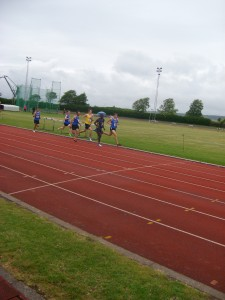 Lewis Sainval with the leaders in the 1500m at SAL fixture, Portsmouth