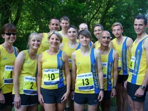 The BAC squad ready for the Purbeck 10k
