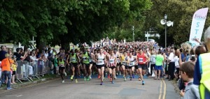 Simon Munro features at the start of the Poole 10k