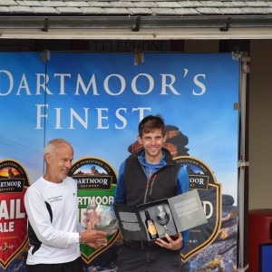 Toby Chapman's well deserved award as winner of the Dartmoor Discovery