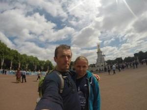 Jacek and Ela Cieluszecki sightseeing after the BUPA London 10k