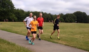 Roy and David Long (3rd and 4th from left) in Bournemouth Parkrun -why aren't they in the results?!!