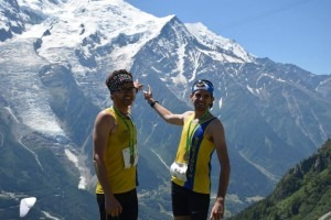 Manol Dimitrov and Toby Chapman in the Alps