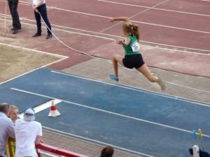 Angel Kerin in the triple jump