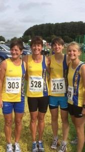 Stur Half 2015 - Louise Price, Nikki Sandell, Heidi Tregenza and Gemma Bragg