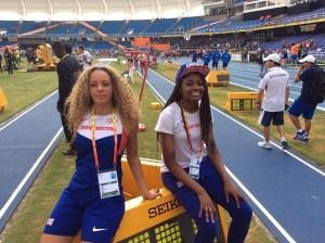 Emily Wright and Naomi Ogbeta soak up the atmosphere of the U18 World Championships