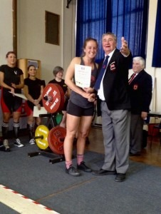 Amy Spencer with coach and BAC stalwart, Paul Rees at GBPF Powerlifting Championships