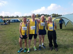 BAC's Aldershot Road Relay V50 team - Nick Kenchington, Andy Gillespie, Ian Graham and Dave Parsons