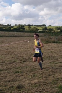 Heidi Tregenza on her way to a win in the Black Hill 10k
