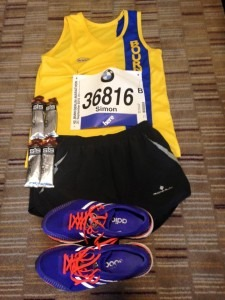 Simon Way is all ready for the Berlin Marathon