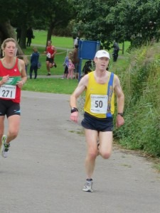 Steve Cox close to the finish of the Littledown 5