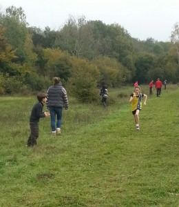 Anya Sandell shows the determination needed for cross country running