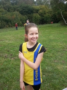 Anya Sandell clearly enjoys cross country!