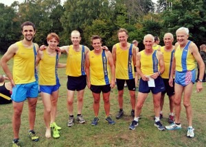 BAC Mens Team Jez Bragg, David Long, Steve Cox, Richard Nelson, Simon Hearn, Ian Graham, Simon Hunt and Mike Farrell