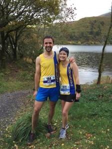 Jez and Gemma Bragg at the Snowdonia Marathon 2015