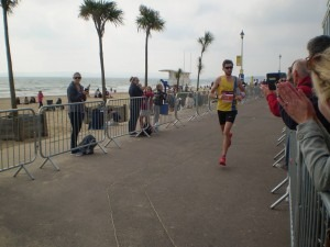Toby Chapman is about to finish 12th in the BMF Marathon