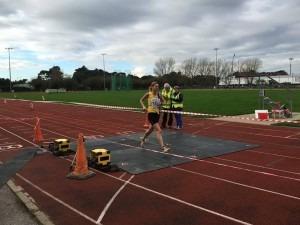 Emma Dews wins the ladies' race