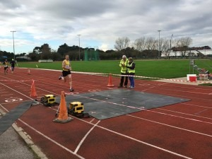 Paul Consani sprints to the finish with Damian Boyle 4 seconds behind